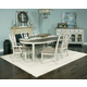 American Drew Southbury 7pc Dining Table in Fossil and Parchment
