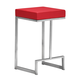 Zuo Modern Darwen Counter Stool in Red 300050 (Set of 2)