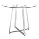 Zuo Modern Lemon Drop Counter Table in Chrome 601102