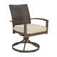 Moresdale Outdoor Swivel Chair with Cushion in Brown (Set of 4) P457-602A
