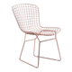Zuo Modern Wire Dining Chair in Rose Gold 100361 (Set of 2)