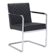 Zuo Modern Quilt Dining Chair in Black 100189