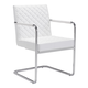 Zuo Modern Quilt Dining Chair in White 100190