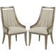 American Drew Evoke Upholstered Dining Chair in Barley (Set of 2) 509-622