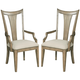 American Drew Evoke Slat Back Arm Chair in Barley (Set of 2) 509-637