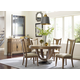 American Drew Evoke 5pc Round Dining Set in Barley