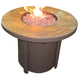 Predmore Outdoor Square Fire Pit Table in Beige/Brown P324-776