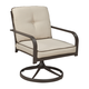 Predmore Outdoor Swivel Lounge Chair in Beige/Brown (Set of 2) P324-821