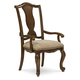 A.R.T. La Viera Splat Back Arm Chair in Chestnut (Set of 2) 225205-2107