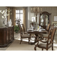 A.R.T. La Viera 7pc Double Pedestal Dining Set in Chestnut
