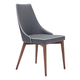 Zuo Modern Moor Dining Chair in Gray 100278 (Set of 2)