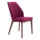Zuo Modern Vaz Dining Chair in Red Velvet 100269 (Set of 2)
