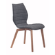 Zuo Modern Aalborg Dining Chair in Graphite 100057 (Set of 2)