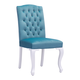 Zuo Modern Bourbon Dining Chair in Polar Blue Velvet 100225 (Set of 2)
