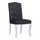 Zuo Modern Bourbon Dining Chair in Black Velvet 100226 (Set of 2)
