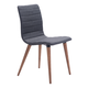 Zuo Modern Jericho Dining Chair in Gray 100274 (Set of 2)