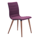 Zuo Modern Jericho Dining Chair in Purple 100275 (Set of 2)