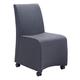 Zuo Modern Whittle Dining Chair in Dark Gray 100266 (Set of 2)