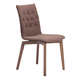 Zuo Modern Orebro Dining Chair in Tobacco 100070 (Set of 2)