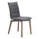 Zuo Modern Orebro Dining Chair in Graphite 100071 (Set of 2)