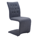 Zuo Modern Hyper Dining Chair in Dark Gray 100285 (Set of 2)