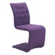 Zuo Modern Hyper Dining Chair in Purple 100287 (Set of 2)