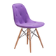 Zuo Modern Probability Dining Chair in Purple 104157