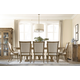 A.R.T Pavilion 7pc Trestle Dining Set in Rustic Pine