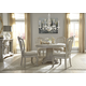 A.R.T Renaissance 5pc Round Pedestal Dining Set in Dove Grey