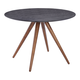 Zuo Modern Grapeland Heights Dining Table in Walnut & Black 100094