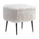 Zuo Modern Fuzz Stool in White 100192