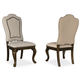 A.R.T Firenze II Upholstered Back Side Chair in Rich Canella (Set of 2) 259204-2304