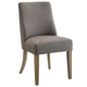 Coaster Donny Osmond Home Florence Upholstered Dining Chair in Light Grey (Set of 2) 180250