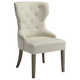 Coaster Donny Osmond Home Florence Upholstered Tufted Dining Chair in Beige (Set of 2) 104507