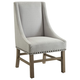 Coaster Donny Osmond Home Florence Upholstered Dining Chair in Light Grey (Set of 2) 180252
