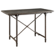 Coaster Donny Osmond Home Antonelli Bluestone Counter Height Table in Antique Bronze 106468