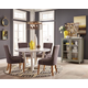 Coaster Donny Osmond Home Caprice 5pc Dining Set in White and Grey