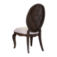 Broyhill Furniture Cashmera Oval Uph Dining Side Chair in Rich Truffle Brown 4860-581 (Set of 2)