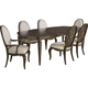 Broyhill Furniture Cashmera 7pc Diningroom Set in Rich Truffle Brown 4860DSET