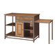 Coaster Donny Osmond Home Kitchen Island in Rustic Wire-Brushed 180220