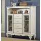 Hillsdale Pine Island Baker's Cabinet in Old White 5265-854