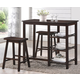 Acme 3pc Counter Height Table Set 73050