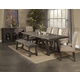 Alpine Furniture Newberry 7-Piece Extension Dining Room Set in Salvaged Grey