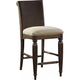 Broyhill Furniture Jessa Woven Uph Seat Counter Stool in Acacia 4980-592 (Set of 2)