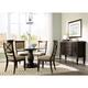Broyhill Furniture Jessa 5-Piece Round Dining Set in Acacia