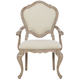Bernhardt Campania Upholstered Arm Chair in Weathered Sand (Set of 2) 370-542
