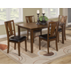 Alpine Del Rey 5pc Dining Set in Dark Espresso 1426