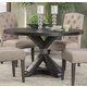Alpine Furniture Newberry Round Dining Table in Salvaged Grey 1468-25