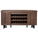 Alpine Furniture Prairie Sideboard with Wine Holder in Natural and Black 1568-06