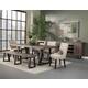 Alpine Furniture Prairie 7pc Rectangular Dining Set in Natural and Black